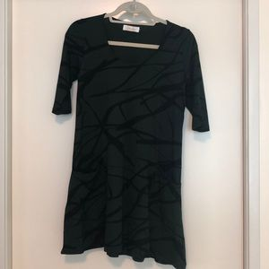 Ava Sky green and black dress XS